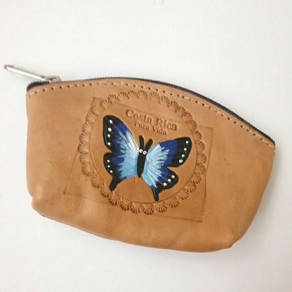 Leather Zip Around Wallet - Blue Butterflies by VIDA VIDA 1pExw